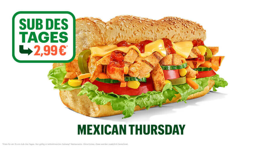Subway - Sub des Tages - Chicken Fajita